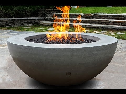 Unique concrete fire bowl idea youtube for Ethanol outdoor fire pit