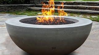 Unique Concrete Fire Bowl Idea