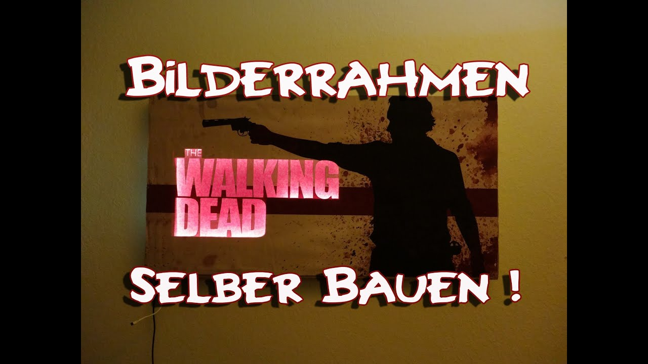 the walking dead bilderrahmen selber bauen so wirds. Black Bedroom Furniture Sets. Home Design Ideas
