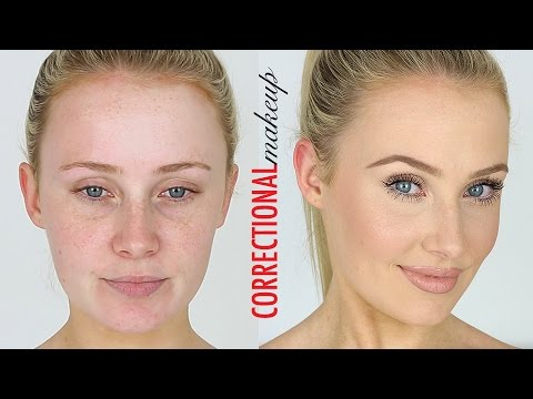 CORRECTIONAL MAKEUP! Redness, Large Pores, Small Eyes, Dark ...
