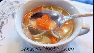 Chicken Noodle Soup With Heart-shaped Carrots!