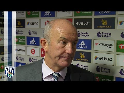 Albion Head Coach Tony Pulis reacts to Chelsea defeat