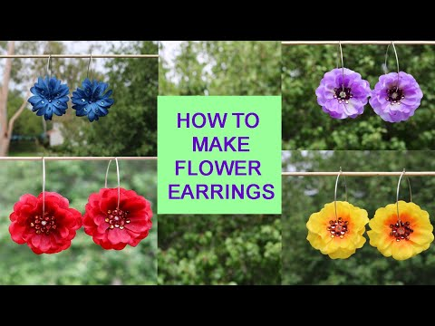 How To Make Flower Earrings