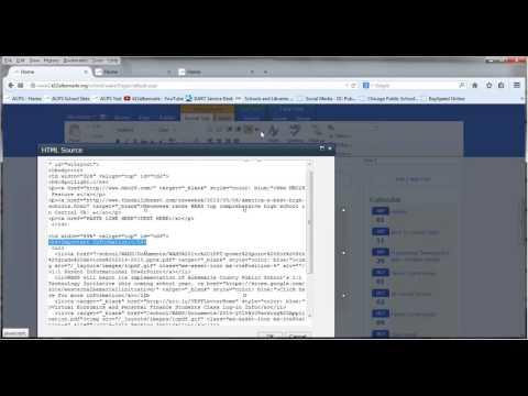 Edit Home Page Spotlight HTML