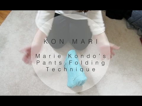 kon mari how to fold pants in the marie kondo way sarah sky youtube. Black Bedroom Furniture Sets. Home Design Ideas