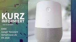 Zero-Day-Lücke, Google Assistant, Verkehrswende, IFA 2020 | Kurz informiert vom 22.04.2020