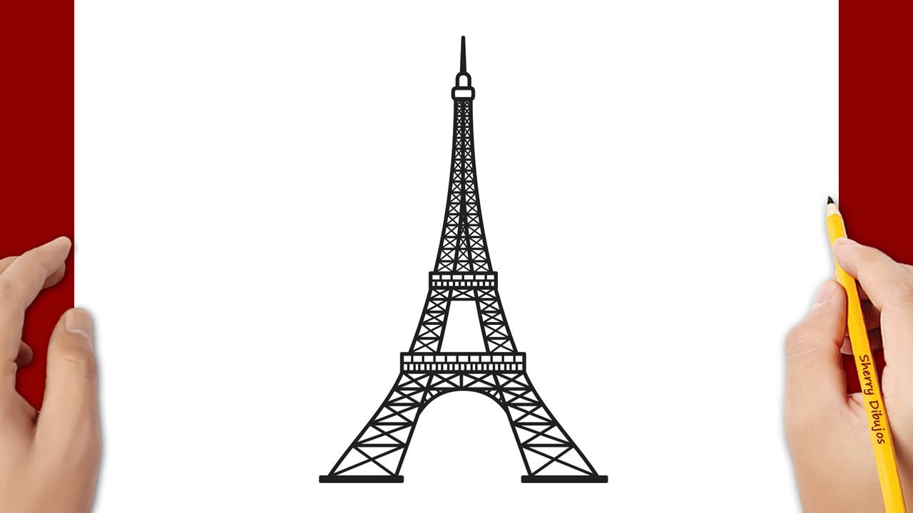 Cómo Dibujar La Torre Eiffel Youtube
