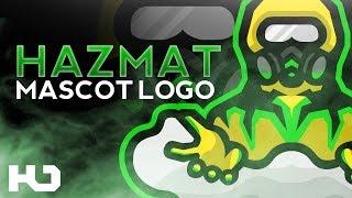 Hazmat Mascot Logo Speedart