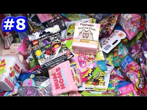 Random Blind Bag Box Episode #8 - Pusheen Surprise Plush, Num Noms, Shopkins Magnets, Minecraft