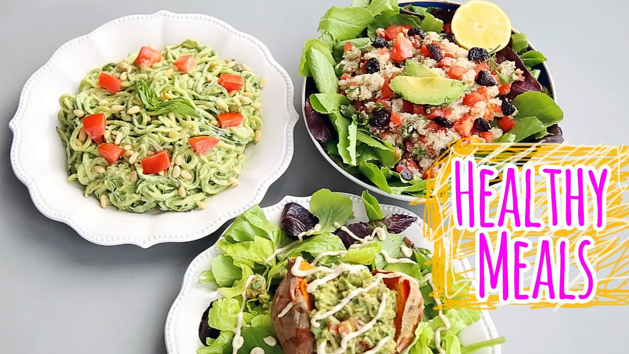 3 HEALTHY VEGAN LUNCH DINNER RECIPES