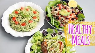 3 HEALTHY + VEGAN LUNCH/DINNER RECIPES