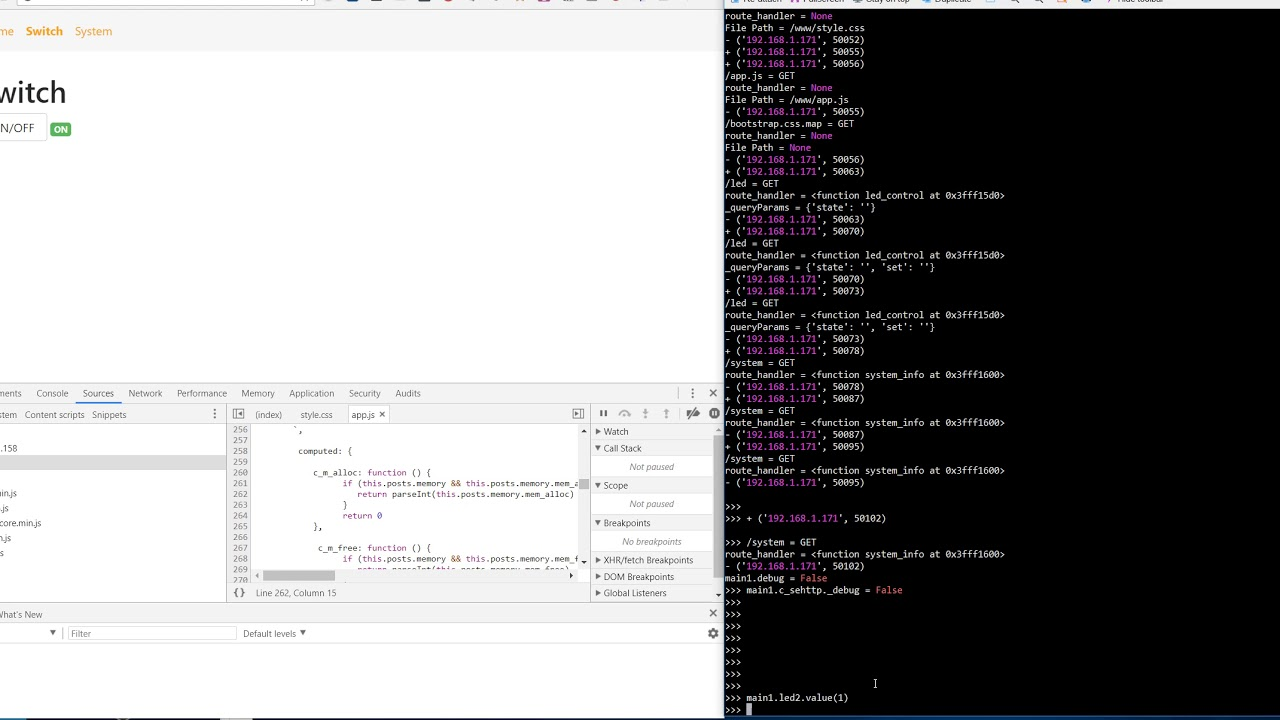 ESP8266 Micropython HttpServer with vuejs and ajax callback