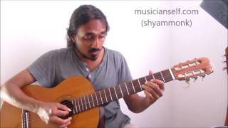 [raga guitar] How To Kurai Ondrum Illai (First Line): Raga Shivaranjini Dorian Scale