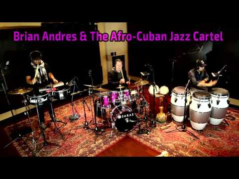 The AfroCuban Jazz Cartel percussion section