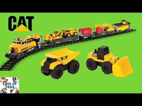 CAT Construction Vehicles, Trains Fun Adventures!! Iron Diesel Train, Construction Sites, Excavators