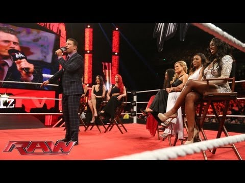 The Miz welcomes the cast of \'Total Divas\' to \'Miz TV\': Raw, July 22, 2013