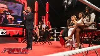 The Miz welcomes the cast of 'Total Divas' to 'Miz TV': Raw, July 22, 2013