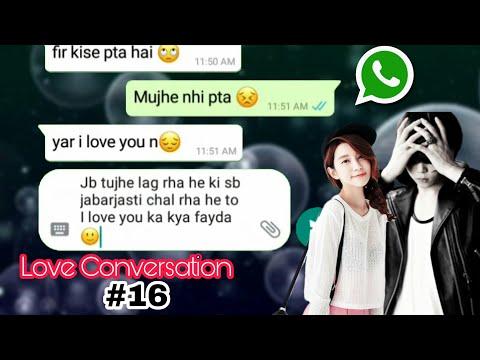 True love conversation in hindi    Bf Gf love