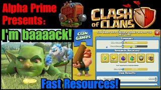 I'm back! / How to get resources fast / Loving the new changes & additions to Clash of Clans