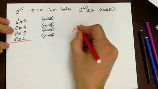Modüler aritmetik (2.ders)
