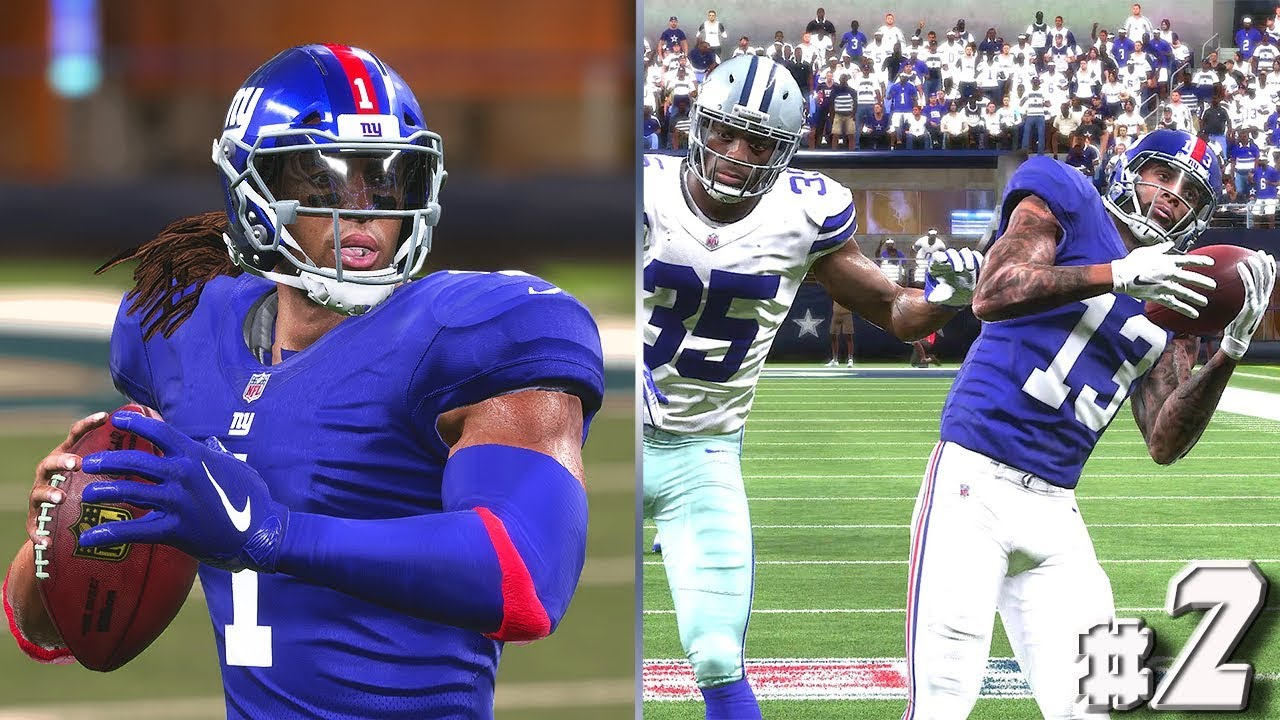 Madden 19 QB Career #2 - The LONG BOMB to OBJ
