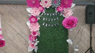 Bridal shower  in pinks photo booth frame, backdrop, free standing flower