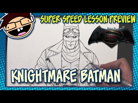 Lesson Preview: How to Draw KNIGHTMARE BATMAN (Batman v Superman: Dawn of Justice) Time Lapse