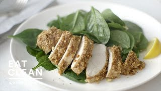 Gluten Free: Almond-Crusted Chicken Breast with Spinach - Eat Clean with Shira Bocar
