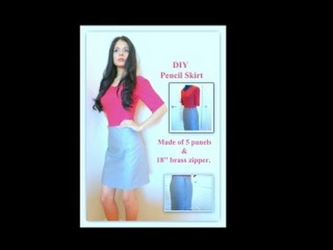 How to make a pencil skirt with a pattern