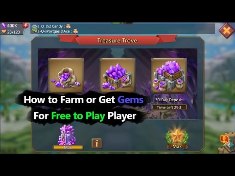 Lords Mobile How To Farm Or Get Gems For Free To Play Player