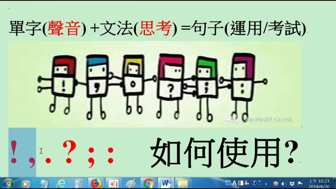 英文標點使用馬上全了解-www.six.com.tw - YouTube