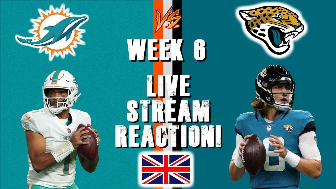 Download Miami Dolphins Vs Jacksonville Jaguars Week 6 Live Stream Reaction!