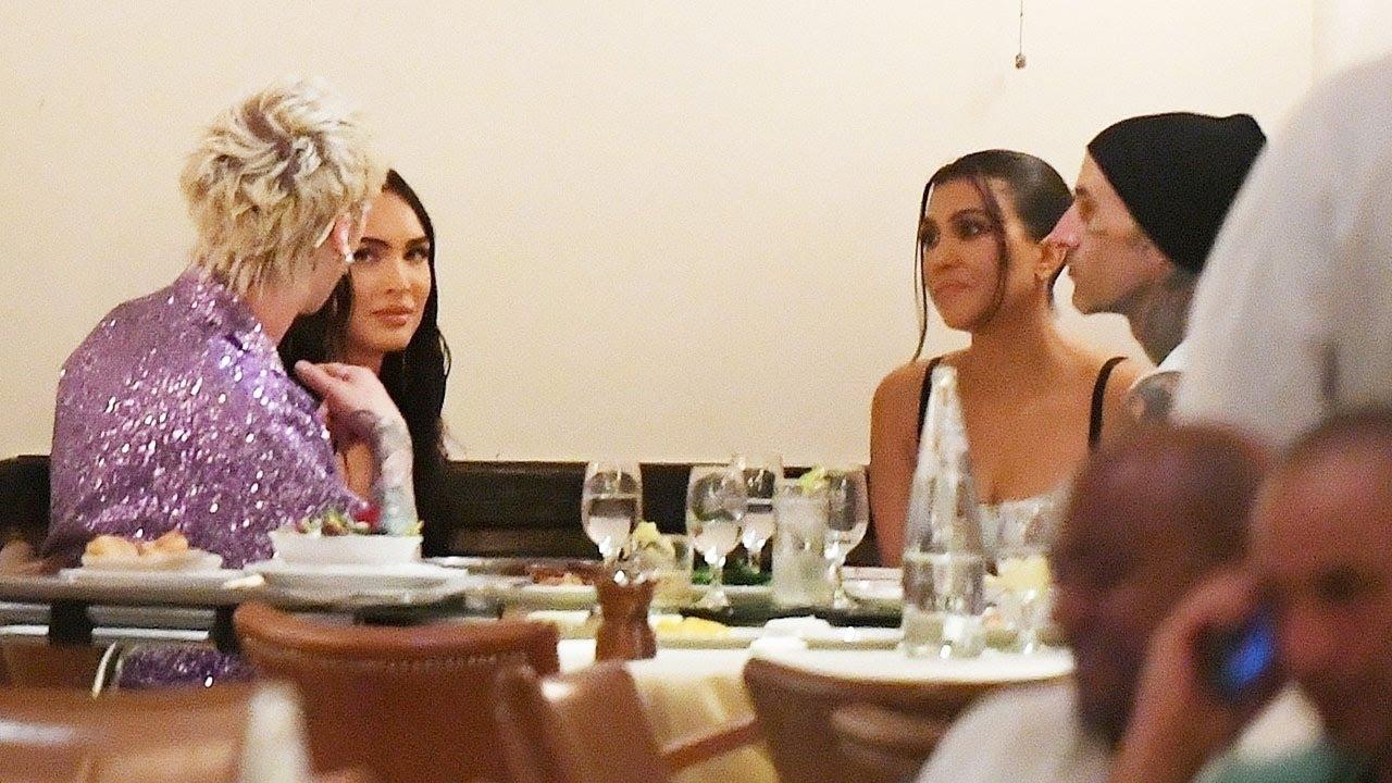 Kourtney Kardashian, Travis Barker dine with MGK, Megan Fox after ...