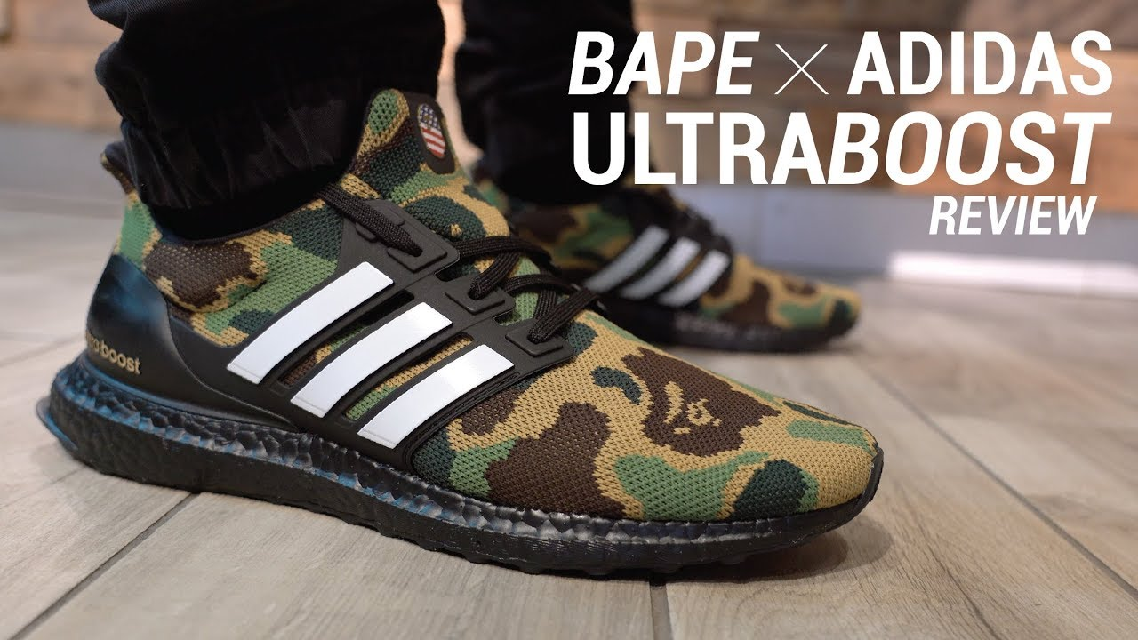 official photos 1dc03 e9084 Bape x Adidas Ultra Boost Review & On Feet