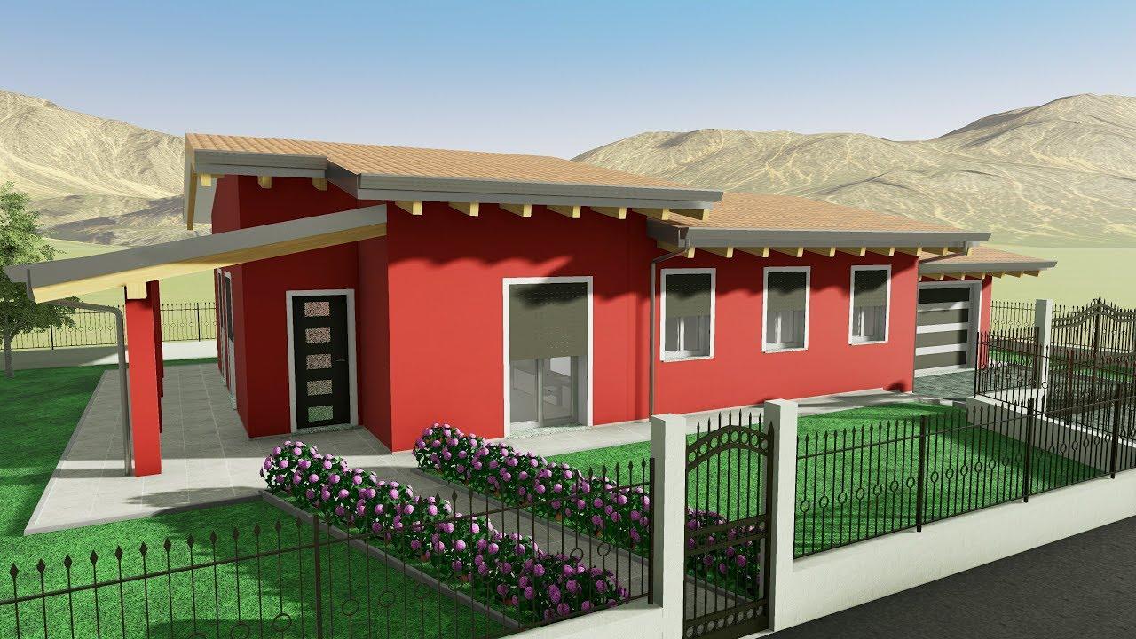 Costo Nuova Costruzione Mq villa moderna unico livello 90 mq