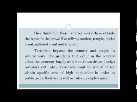 ESSAY ON TERORISM BAC