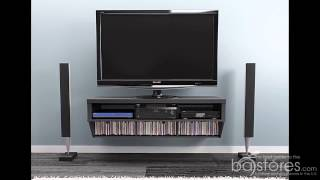"How To Install The Prepac 9 Designer Collection Black 58"" Wall Mounted Av Console At Ba-stores.com"