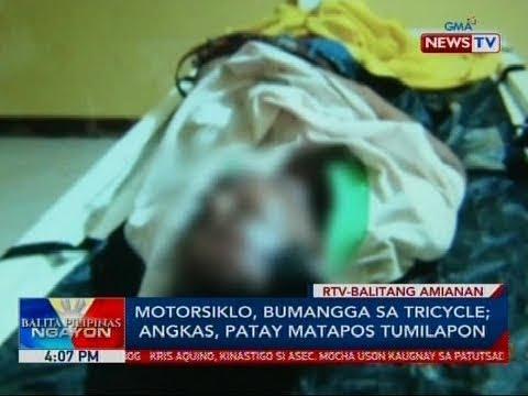 BP: Motorsiklo, bumangga sa tricycle; angkas, patay matapos tumilapon