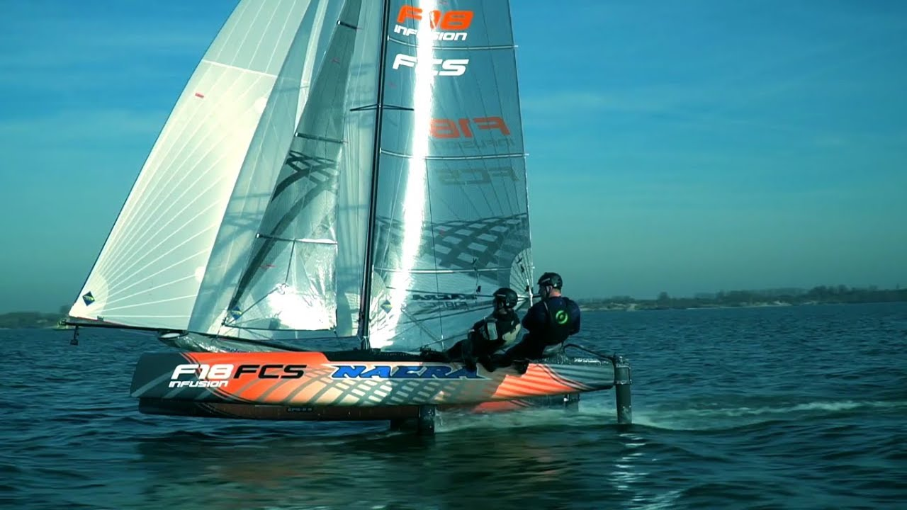 Nacra Infusion F18 FCS : First F18 Convertible to Fly . Teaser Flights
