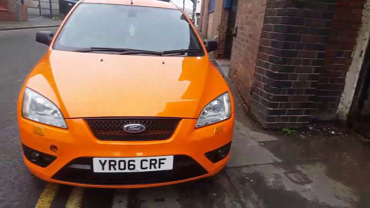 ford focus st 350bhp straight pipe start up and rev pop. Black Bedroom Furniture Sets. Home Design Ideas