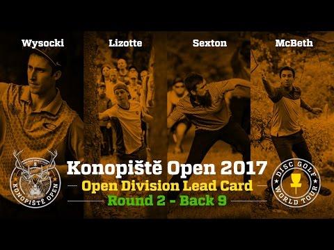 2017 Konopiště Open Lead Card Round 2 Back 9 (Wysocki, Lizotte, Sexton, McBeth)