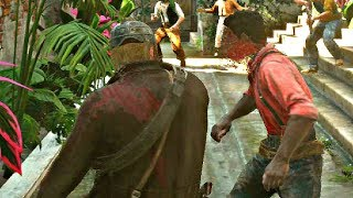 Red Dead Redemption 2 - Police Officer Beats Up Black Man & Threatening Kids