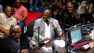 The Three Winans Brothers visit the Tom Joyner Morning Show Studio