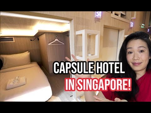 Staying In A SINGAPORE CAPSULE HOTEL! (Cheap Singapore Accommodation 2019)