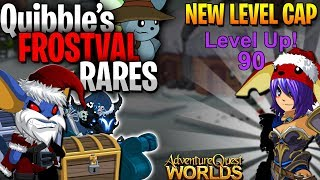 NEW LEVEL CAP!!! Frostval Quibble Rares! AQW [MediaShare ON]