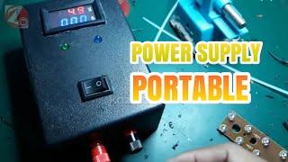 how to make power supply portable/Cara membuat power supply portable bisa untuk servis hp
