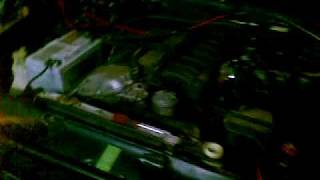 18112009 My 525i engine first run after swap into 518i