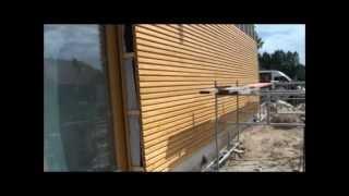 Montaż elewacji drewnianej - system Fox_e2 - deska RHOMBO (Moco)