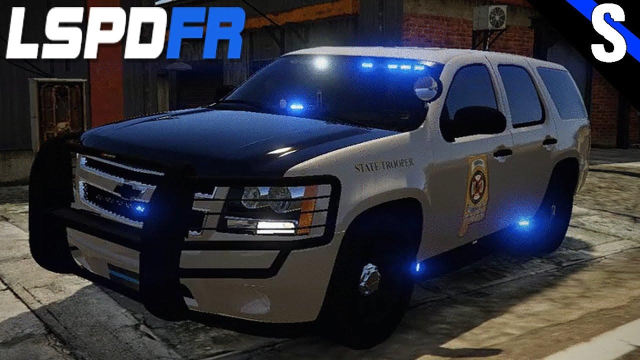 GTA V LSPDFR 141 Alabama State Police Slicktop Chevy Tahoe Police