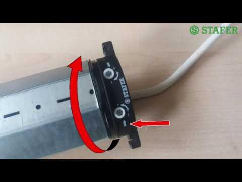 Motorino Elettrico Per Avvolgibili.Regolare I Fine Corsa In Un Motore Stafer Per Tapparelle Youtube